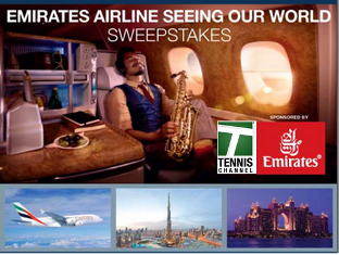 Tennis Channel – Win a trip for two to Dubai and the 2016 Dubai Duty Free Tennis Championships valued at $30,000 by March 25, 2015!