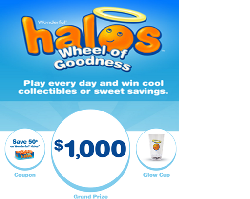 Wonderful Halos – Win $1,000 cash and every day and  cool collectibles or sweet savings DAILY !