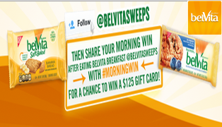 belVita – Win one of 4 $125 American Express Gift Card from @beVitasweeps  by March 1, 2015!