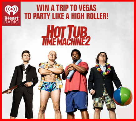 iHeart Radio – Win a trip for 2 to Las Vegas to party like a High Roller valued at $8,500 on February 8, 2015 !