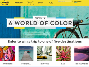 3M Post-it – Win a trip for 2 to one of five destinations for your choice!