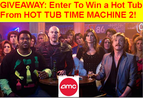 American Multi Cinema – Win a Hot Tub (minimum four person spa) valued at  $4,500 by March 5, 2015!