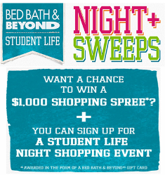 Bed Bath & Beyond – Win a $1,000 Gift Card or 1 of 3 Gift Cards valued at $500!