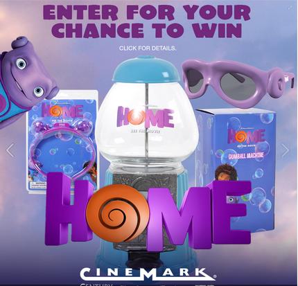 Cinemark – Win a Gum Ball Machine Look 3D Glasses  Or a Light-up headband & Look 3D glasses!
