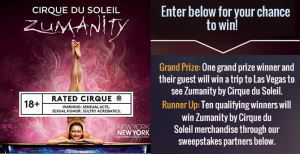 Cirque du Soleil – Win a trip for 2 to Las Vegas to see Zumanity!