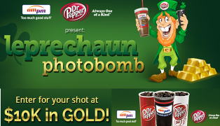 Dr Pepper – Win $10,000 in gold by April 6, 2015!