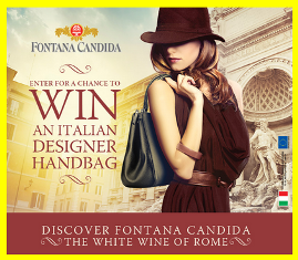 Fontana Candida – Win one designer leather Italian handbag and 1 of 10 $100 gift cards for second prize!