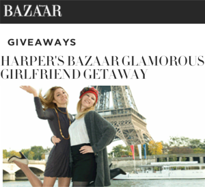 Harpersbazaar – Win a trip to Paris for you and your friends worth $100,000 by January 31, 2016!
