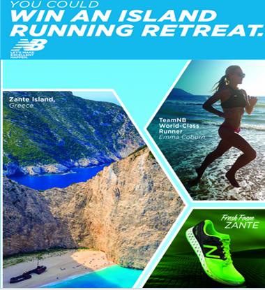New Balance Athletic Shoe – Win a 6-day running retreat on Greece's Zante Island!