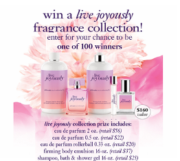 Philosophy – Win 1 of 100 live fragrance collections valued at $160 each!