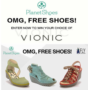 Planet Shoes – Win a free pair of shoes EVERY WEEK!
