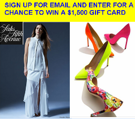 Saks Fifth Avenue – Win a $1,500 Gift Card for  Shopping Spree by April 6, 2015!