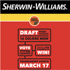 Sherwin Williams – Win one of 15 gift card prizes valued from $50 up to $200 by April 5, 2015!