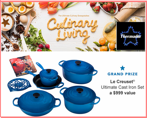 Thermador – Win a Cast Iron Cooking Set and 5 WEEKLY great prizes valued at $2,358 by April 5, 2015!