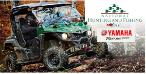 Yamaha Motor  – Win a 2016 Yamaha Wolverine R-Spec Hunter Green non-EPS valued at $12,199 OR a cash option in the amount of $7,080!