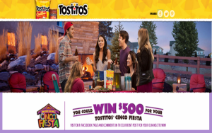 Frito Lay – Win 1 of 4 $500 gift cards for your Cinco Fiesta by May 1, 2015!