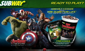 Marvel Subway – Win Subs For Life prize awarded as a $27,781 check plus movie tickets and more INSTANTLY !