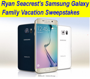 Ryan Seacrest – Win a $10,000 cash gift card plus one Samsung Galaxy S6 Edge and one year phone ser vice plan from T-Mobile!