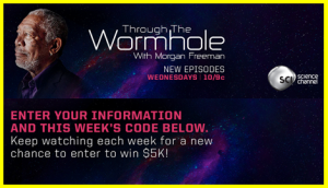Science Channel – Watch and win A $5000 Visa gift card through the Wormhole by June 6, 2015
