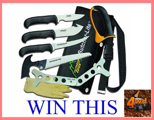 4WD TV – WIN a butchers knife set thanks to Gun Emporium by May 19, 2015!