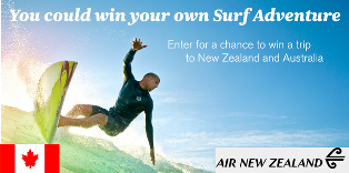 Air New Zealand – Win a $6,800 trip for 2 to New Zealand and Australia by May 31, 2015!