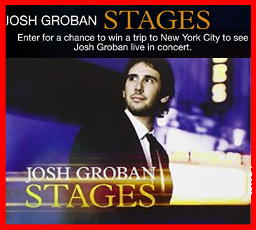 Amazon – Win A $3,100 trip for 2 to New York City, NY to attend a Josh Groban concert at The Beacon Theatre by May 4, 2015!