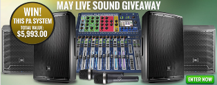 American Musical Supply – Win a great sounding PA system valued at $5,993 by May 31, 2015!