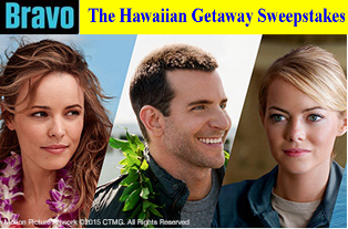 Bravo TV – Win a $4,945 trip for 2 to Oahu, Hawaii by May 31, 2015!