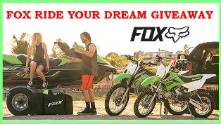 Buckle – Win one of the following : a 2015 Kawasaki STX-15F, a Kawasaki KLX110, or a Kawasaki KLX140 by June 1, 2015!