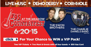 CBS 6 – Win 2 VIP tickets to K95 CountryFest, to meet & greets with all four bands and a $50 gas card by June 6, 2015!