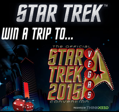 CBS Consumer Products – Win a $3,750 trip for 2 to Star Trek Las Vegas, Las Vegas, Nevada by May 4 , 2015!