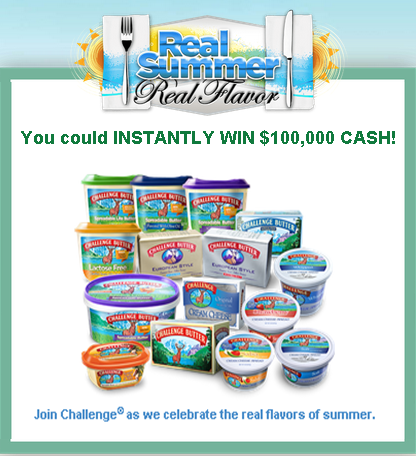 Challenge Dairy Products – Win $100,000 Cash Instantly and a tons of prizes by September 9, 2015 – INSTANTLY!