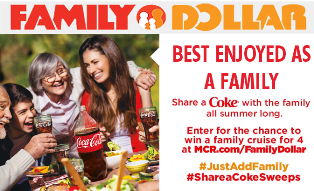 Coca Cola – Win a $10,000 cruise for 4 within the 48 contiguous United States only  by June 30, 2015!