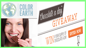 Color Earth – Win 1 of 20 prizes of a year supply of Chocolate A Day by June 19,2015 – DAILY !