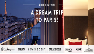Cooking.com – Win a $4,050 dream trip to Paris by June 18th, 2015!