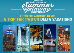 Cost Plus – Win 1 of 4 of a $3,000 trip for 2 on Delta Vacations by June 19, 2015!
