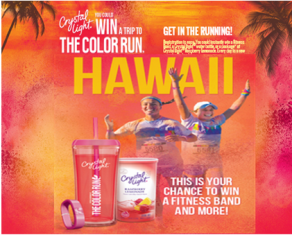 Crystal Light – Win a $16,780 trip for 4 to Honolulu, Hawaii and a tons of great prizes by September 7, 2015!
