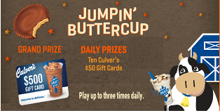 Culver's – Win a $500 gift card and  one of ten $50 gift cards every day by May 8, 2015 – INSTANTLY!