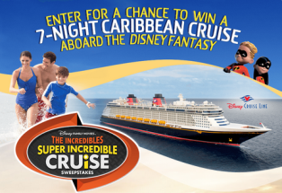 Disney Family Movies – Win a $7,383 Disney Cruise Line trip for 4 to the Caribbean by June 1, 2015!
