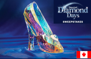 Disney – Win one Cinderella Glass Slipper package and a trip for 4 to Disneyland® Resort Park Hopper valued at $34,501 an more great prizes by September 11, 2015!
