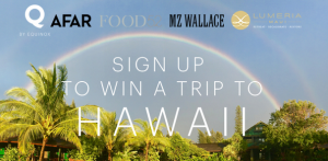 Equinox – Win a trip to Hawaii valued at $4,499 on Mother's Day, 2015!