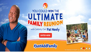 Family Dollar – Win an Ultimate Family Reunion with celebrity chef Pat Neeley plus  Free Groceries for a Year and $5,000 cash by May 26, 2015!