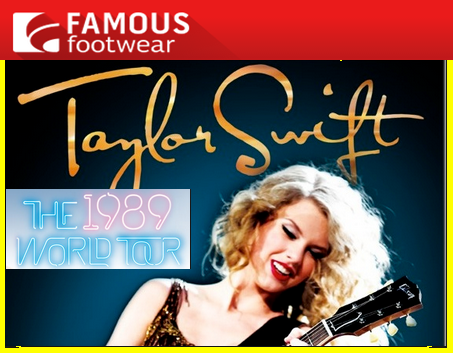 Famous Footwear – Win a trip for 4 to see a Taylor Swift concert in Los Angeles, CA  plus one of 400 instant prizes by July 1, 2015 – INSTANTLY!