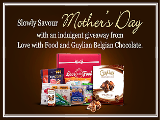 Guylian – Win a 12-Month Love With Food Tasting Box Subscription plus a Guylian Belgian Chocolate Indulgence Party and more prizes on Mother's Day,2015!