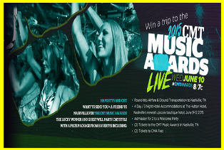 Havertys – Win a $4,990 trip to the 2015 CMT Music Awards in Nashville, TN by May 29, 2015!