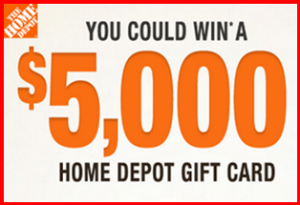 Home Depot – Win a $5,000 gift card from 2015 Q2 customer satisfaction sweepstakes by July 31, 2015