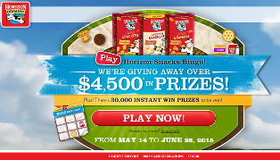 Horizon Snacks – Win a $3,000 VISA gift card and 30,000 instant win prizes by June 26, 2015 – INSTANTLY!