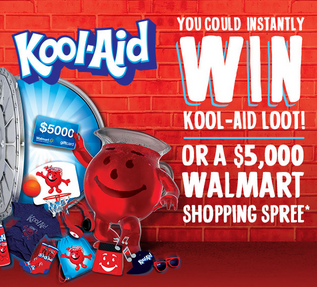 KRAFT – Win a $5,000 Walmart shopping spree and more Instant prizes by September 30, 2015 – INSTANTLY!