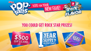 Kellogg's – Win a $500 gift card plus 1 year supply of Pop-Tarts and more instant prizes by August 31, 2015 – INSTANTLY!