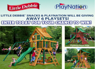 Little Debbie – Win one of the following prizes – a Passage Playset , a Russet Ridge Classic Playset or a Horizon Treehouse Playset by October 31, 2015!